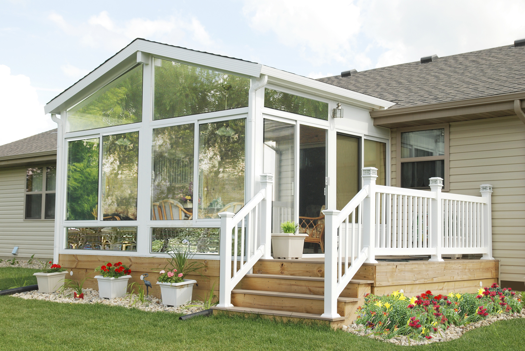 gable style sunroom by betterliving patio sunrooms of pittsburgh - Better Living Patio Rooms